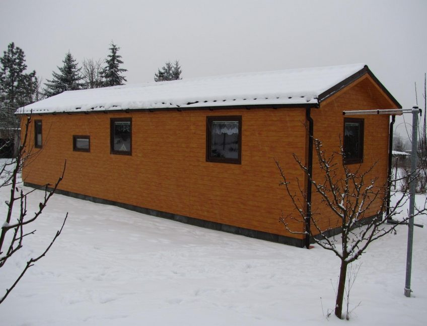 Domek 4×12 2+kk zimní pohled